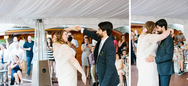 Loving this darling couple's first dance!