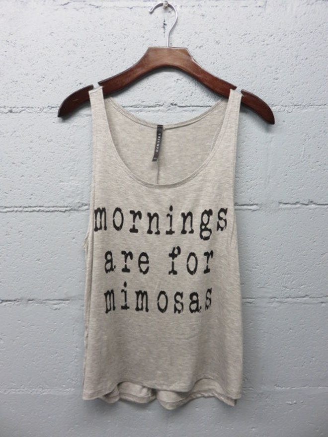 Mornings Are For Mimosas Tank Top by Little Things Adorn