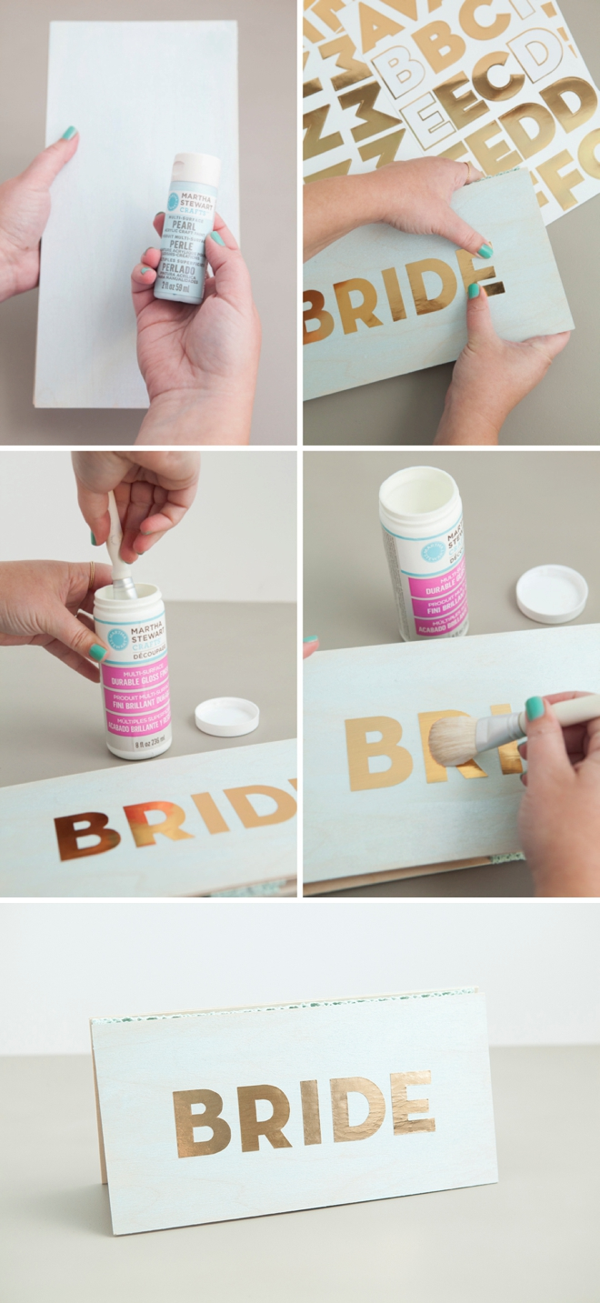 How to decoupage a wedding sign, the easy way!