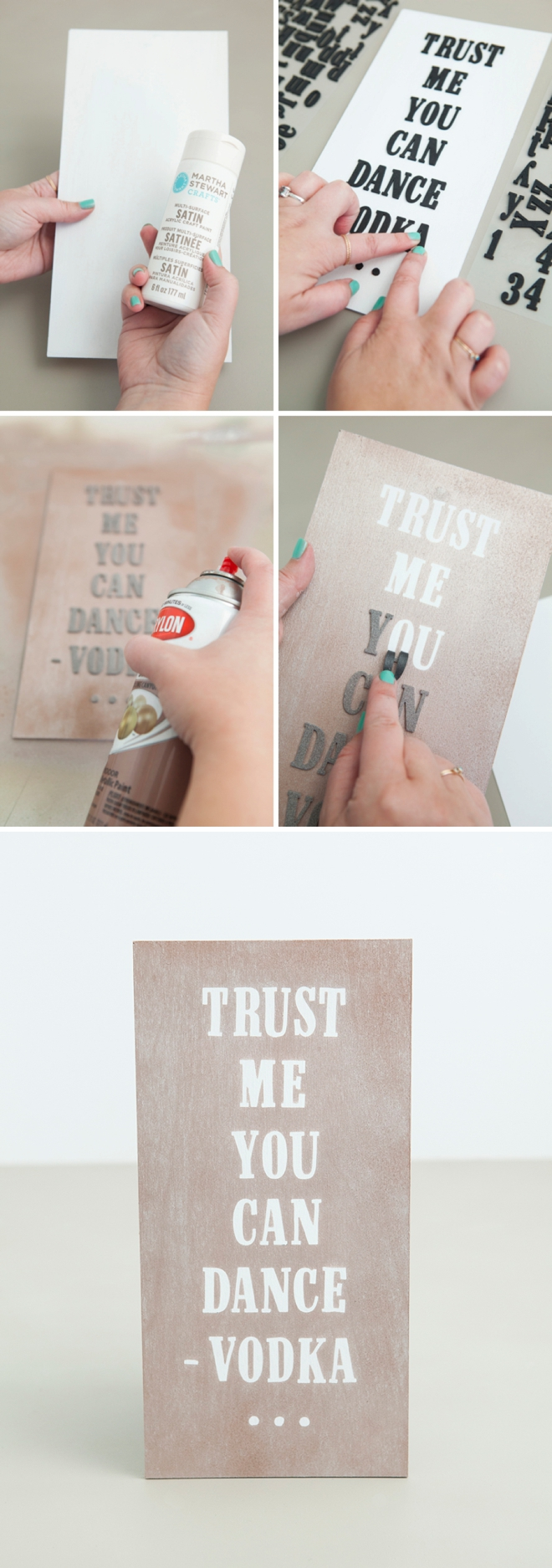 How to paint over stickers to make a super awesome and easy sign!