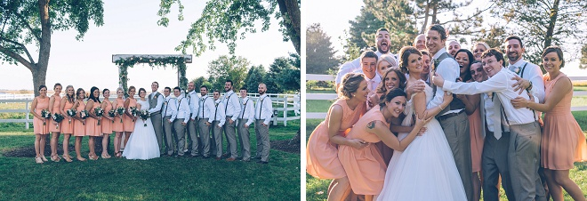 How fun is this wedding party?! Loving it!