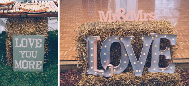Loving all of the sweet details at this gorgeous barn reception!