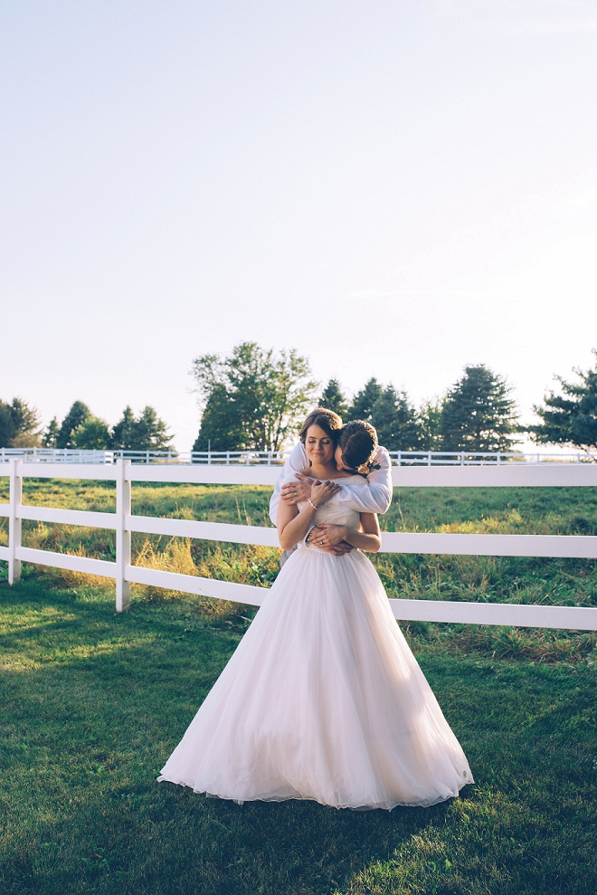 We're loving this darling Bride and Groom! The Bride looks gorgeous in her Grandmother's wedding dress!!