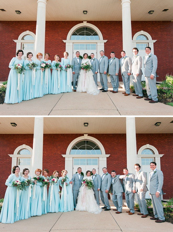 Loving this fun Bridal Party shot after the ceremony!