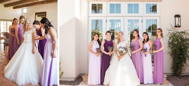 We're loving this Bride and her Bridesmaid shot!