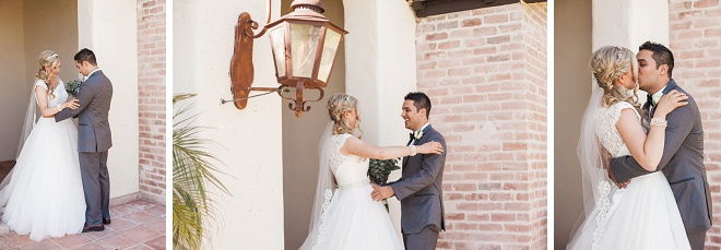 Swooning over this super sweet first look!