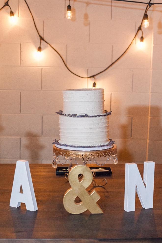 We're loving this gorgeous monogram and cake shot!
