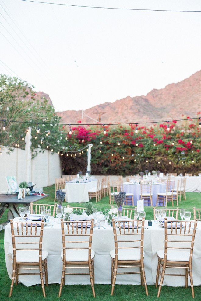 Loving this dreamy desert cocktail party wedding!