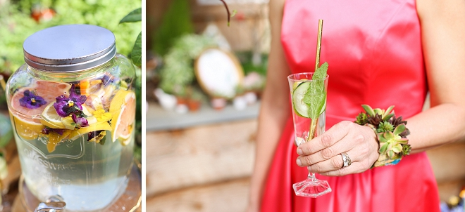 We love this gorgeous garden bridal shower and it's green creative details!
