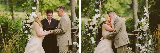 We're swooning over this sweet rustic outdoor wedding and DIY barn reception!