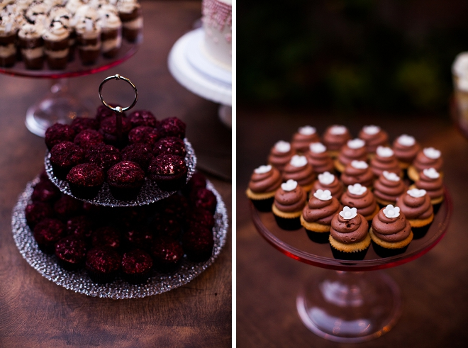 How gorgeous is this Bride and Groom's dessert table at their wedding! So cute!