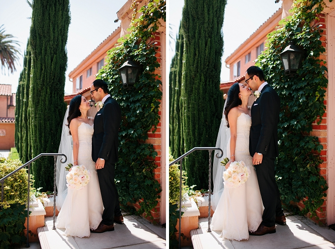 Swooning over this gorgeous Bride and Groom and their DIY garden wedding reception!