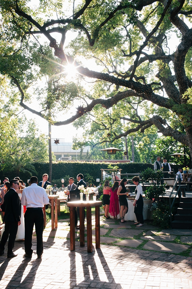 We're swooning over this gorgeous cocktail garden reception!