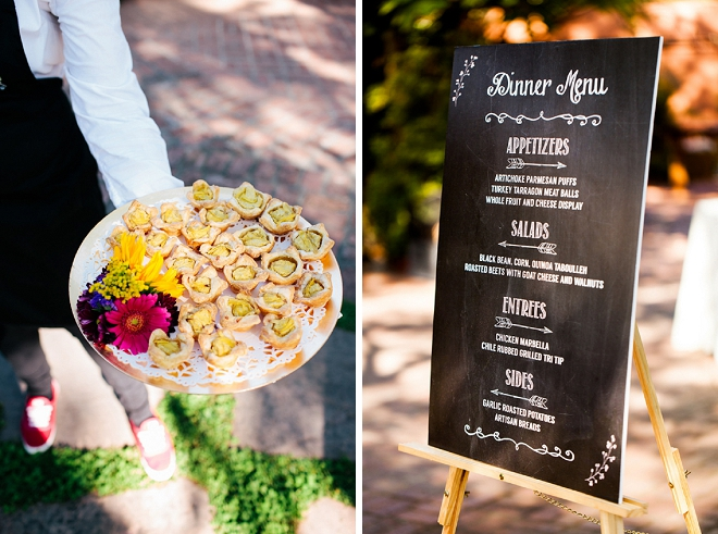 We're loving this Etsy menu sign for this gorgeous couples reception!