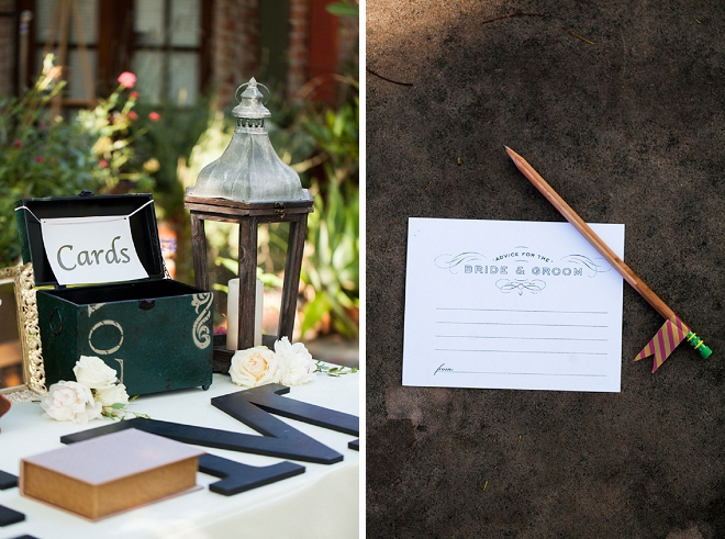 We love this monogram guest book! Simple and a fun keepsake!
