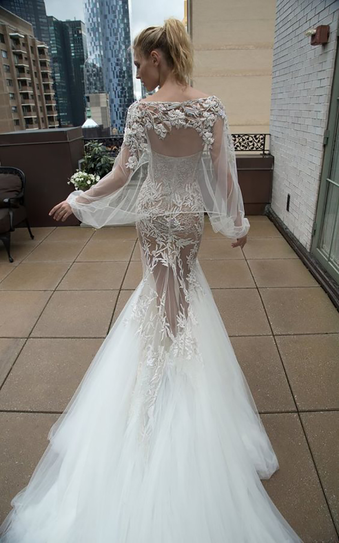 Inbal Dror with sheer top, awesome idea for a convertible wedding dress