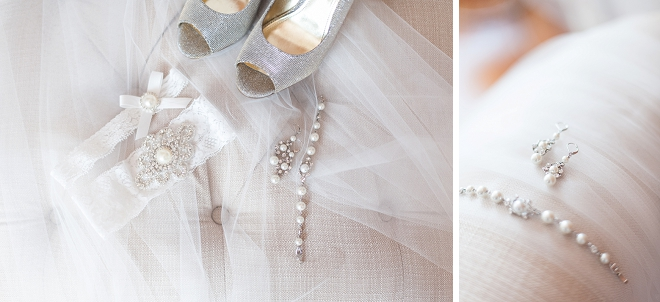 Loving this Bride's gorgeous details, shoes and veil!