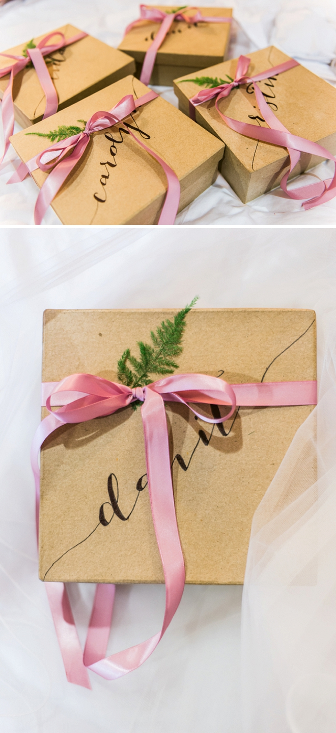 How darling are these DIY Bridesamaid gifts? We're in love!