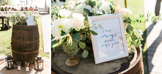 We're loving the darling details at this gorgeous California wedding ceremony!