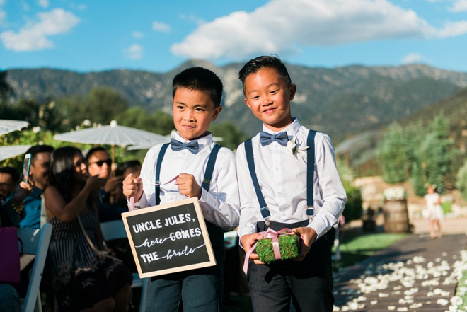 How adorable are these ring bearers?! So cute!!