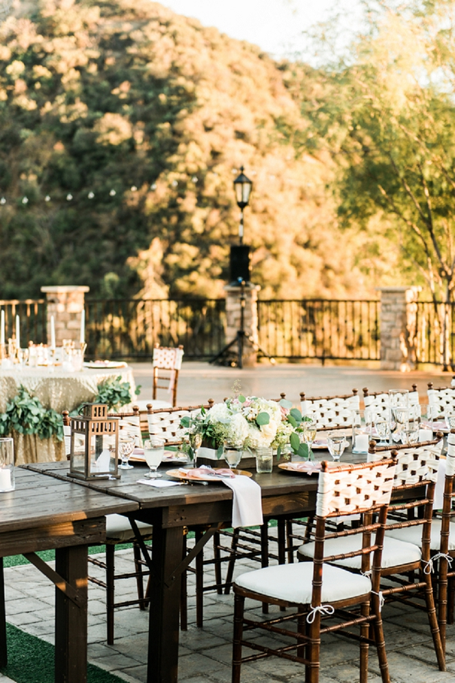 Such a gorgeous venue for this romantic California wedding reception!