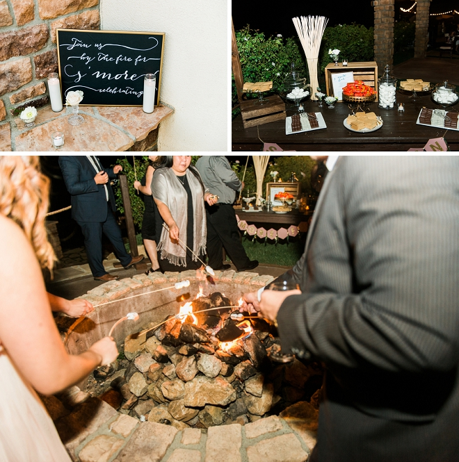 We're loving this fun idea - a smore bar! Check out all of their darling DIY details!