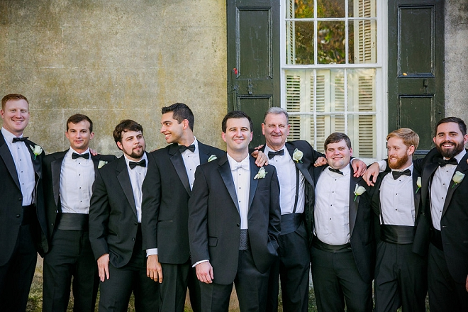Great shot of the Groom and his handsome Groomsmen before the ceremony!