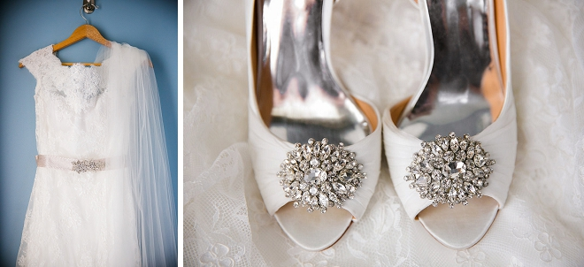 Loving this Bride's gorgeous wedding shoes!