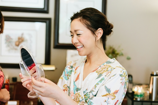 Loving this gorgeous Bride getting ready for her big day!