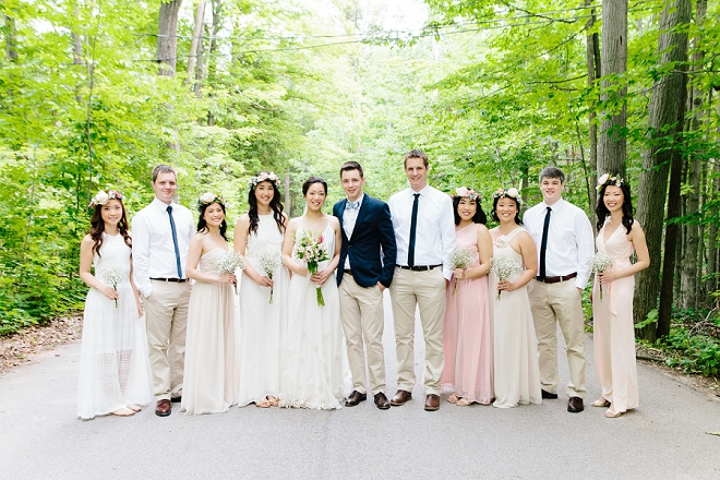 Loving this gorgeous wedding and their bridal party style!