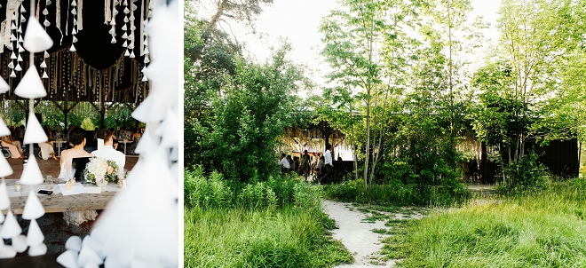 Loving this peek at the sweet couple at their outdoor reception!