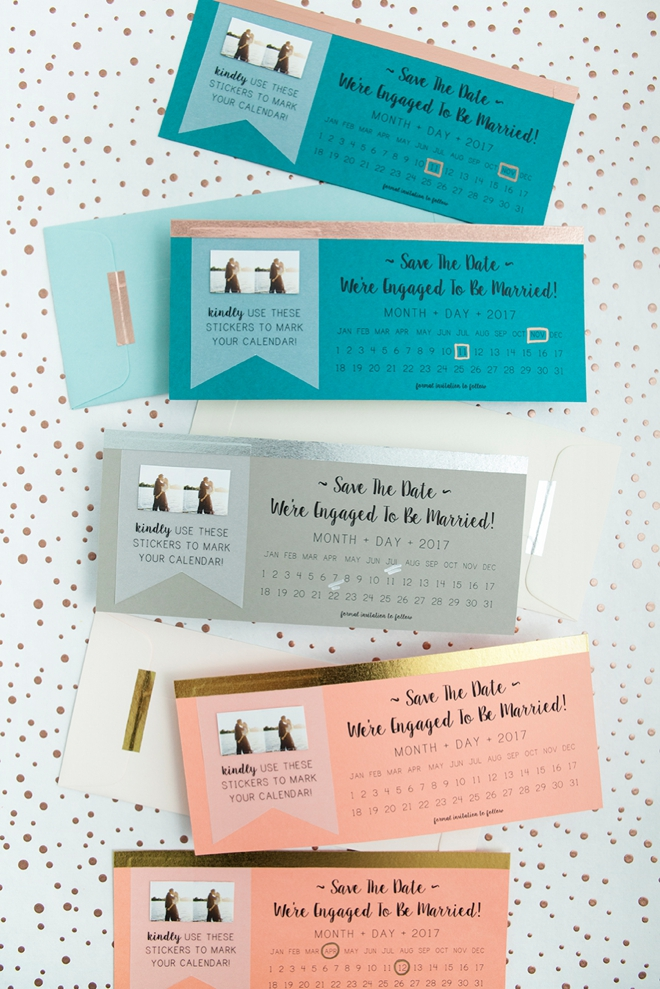 Diy Calendar Save The Date : New free diy save the dates with calendar stickers