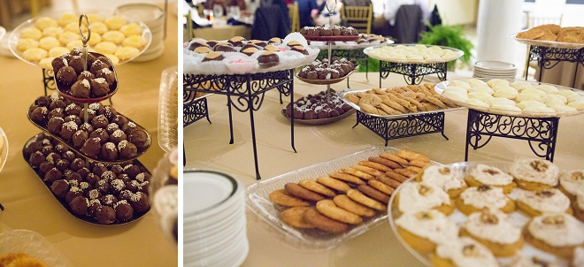 Loving this gorgeous dessert table at this fun museum wedding!