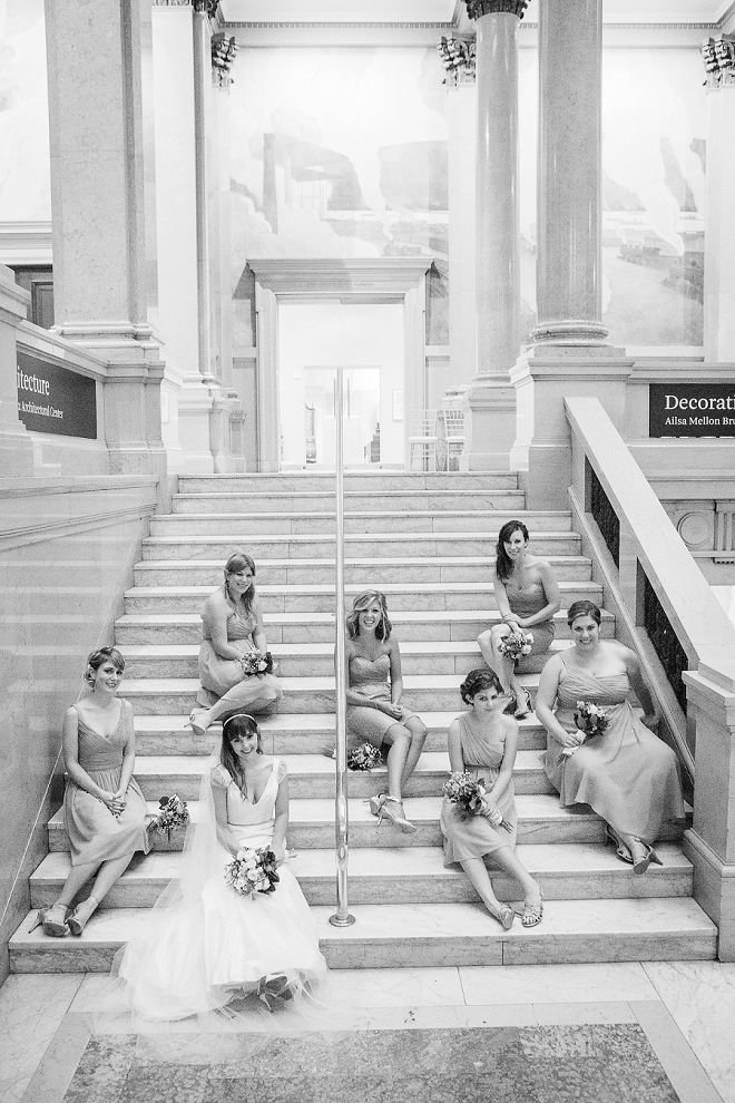 We're LOVING this darling photo of the Bride and her Bridesmaids before the ceremony!