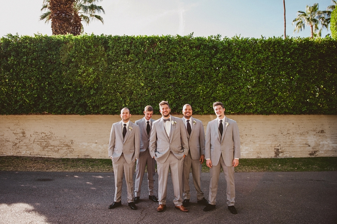 Loving this shot of the Groom and his Groomsmen before the ceremony!