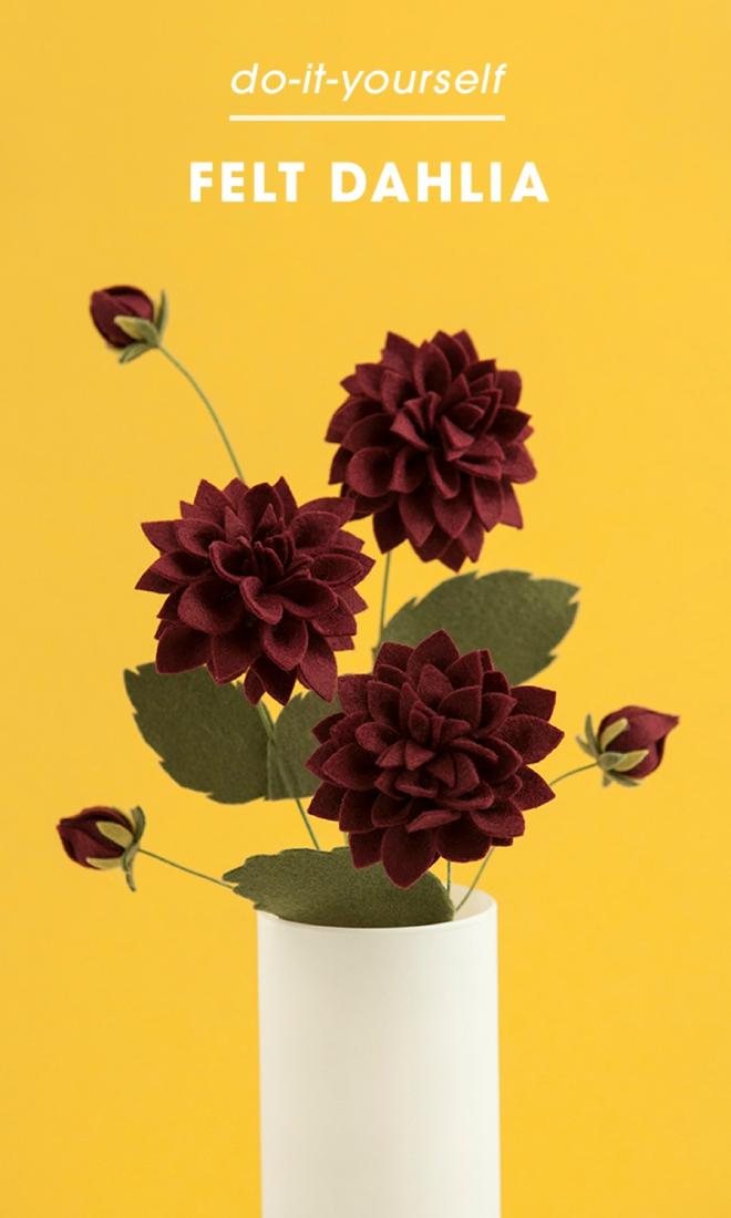 How to make the most gorgeous felt dahlia flowers!