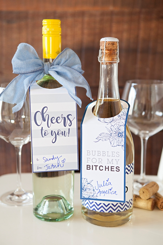 Wedding Gift Wine Tags Printable : Adorable free printable wine gift tags, just print and cut!