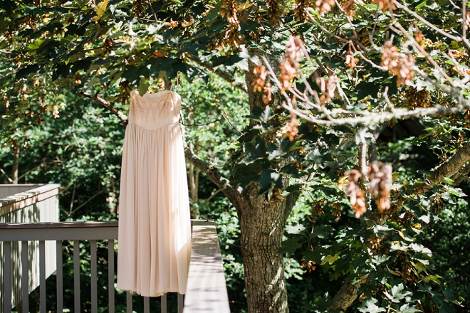Crushing on this boho Bride's gorgeous Free People wedding dress!