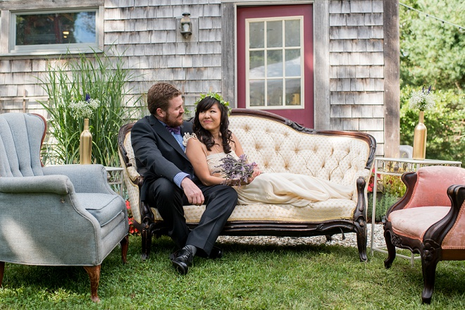 We're crushing on this gorgeous boho backyard wedding in Cape Cod!