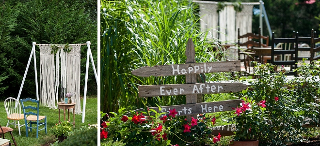 Loving the intimate feel of this gorgeous backyard Cape Cod wedding!