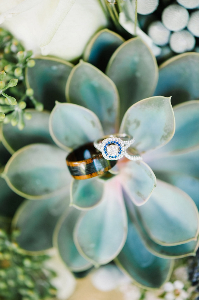 We LOVE this gorgeous succulent ring shot!