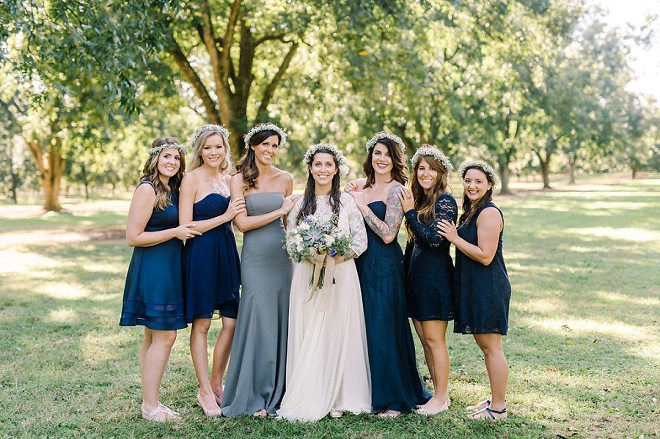 Loving this gorgeous boho Bride and her Bridesmaids!