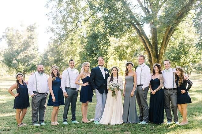We love this fun shot of the Bridal party after the ceremony!