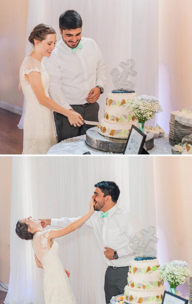 We love a good wedding cake smash!!