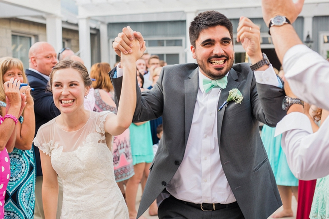 We're in love with this super sweet ceremony exit!
