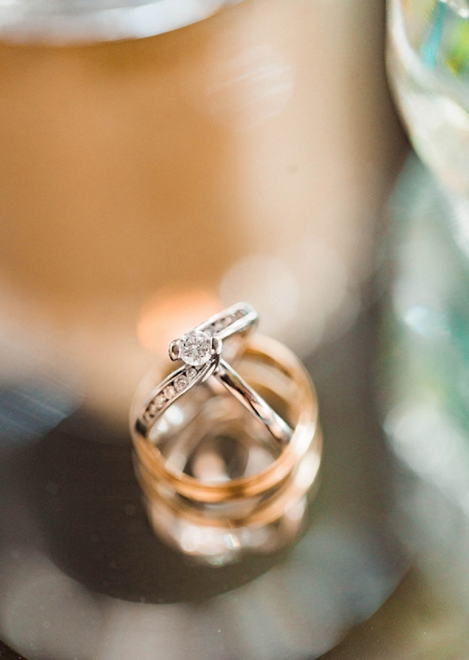 We're swooning over this gorgeous ring shot at this darling Carolina wedding!
