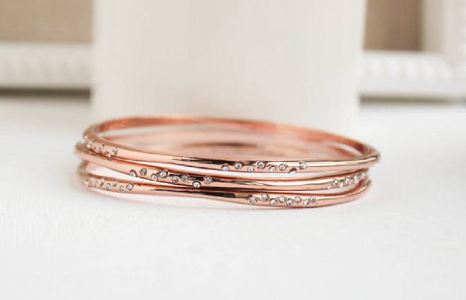 We love our Bridal Blogger Shea's gorgeous wedding day bangles!