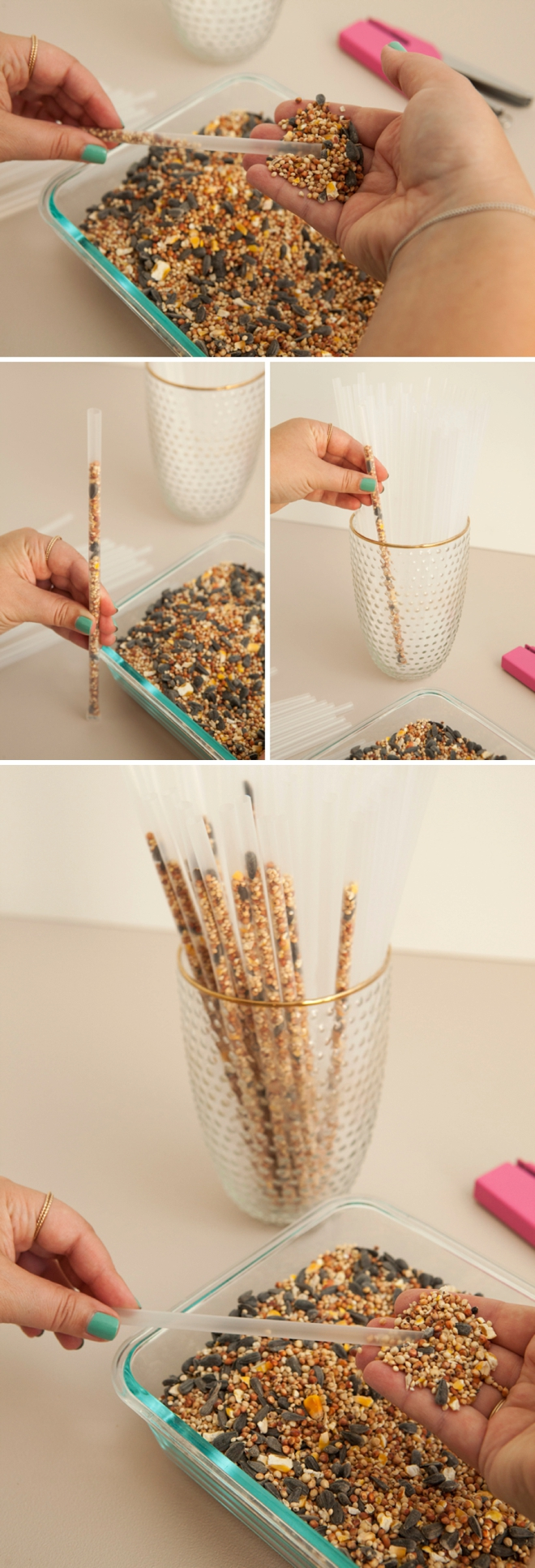 This is the most darling idea for a bird seed toss at your wedding ceremony, with free printables!