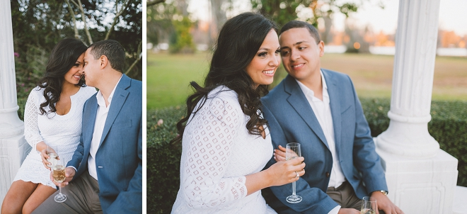 We're crushing on this gorgeous couple's champagne estate engagement!