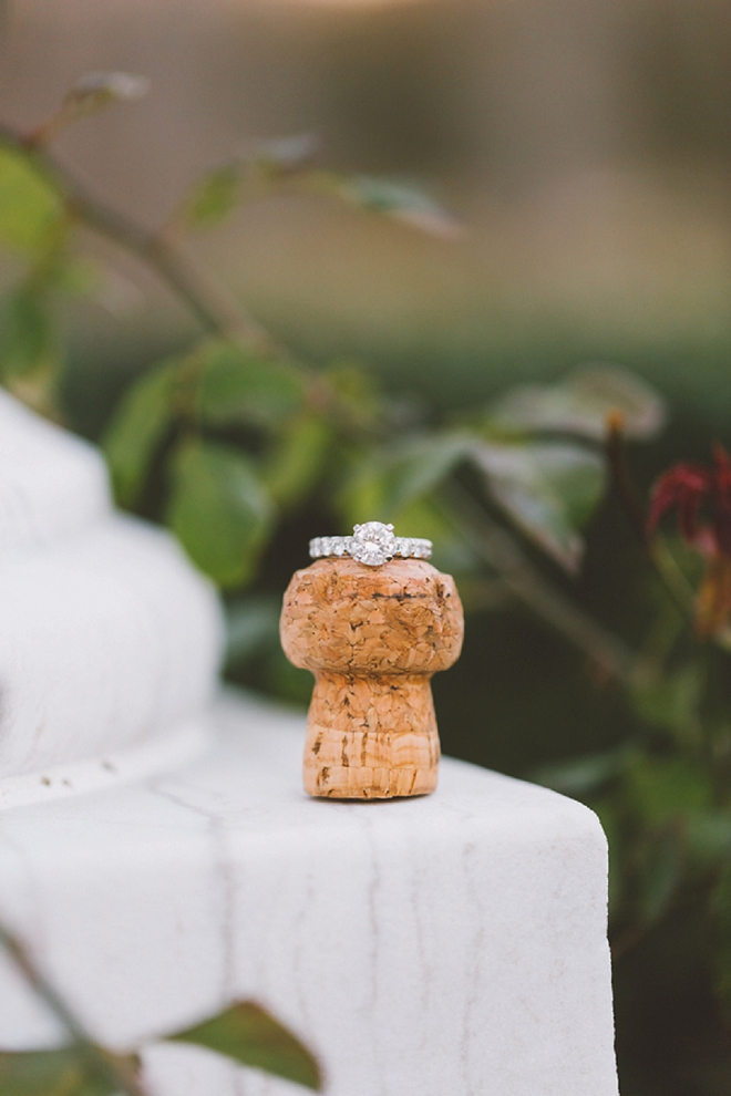 We are in LOVE with this stunning champagne cork ring shot! LOVE!